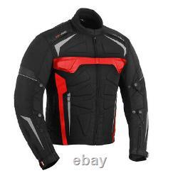 Men Motorcycle Textile Jacket Trouser Motorbike Suit Padded Armoured Waterproof