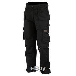 Men Work Cargo Trouser Black Pro-11 Heavy Duty Multi Pockets W36 L33