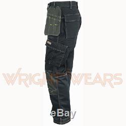 Men Work Cargo Trouser Black Pro Heavy Duty Multi Pockets W32 L31 like Dewalt