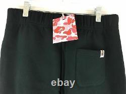 Men's A Bathing Ape Logo Jogger Sweatpant, Size S Black/White