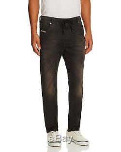 Men's DIESEL Krooley Jogger Vintage Black Joggjean Jogg Sweat Leg Jeans Pants