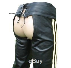 Men's Real Leather Chaps With Leather Brief /Leather Chaps + FREE LEATHER BELT