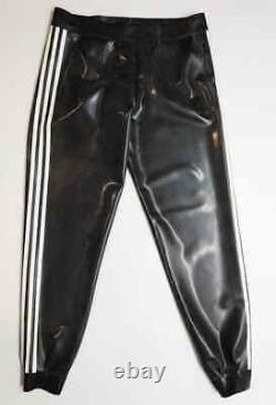Men's latex rubber adidas trousers pants 0.6 mm size L