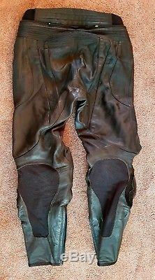 Mens 2 Piece Motorcycle Leathers Jacket & Trousers