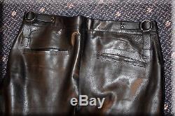 Mens Gucci Black Lambskin Leather Pants Size Medium 34