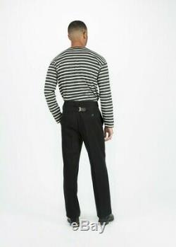 Mens Margaret Howell 50s chino pleated trouser, black cotton, size S