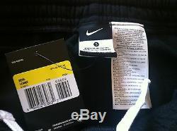 Mens Nike Fleece Lined Cuffed Logo Tracksuit Bottoms Size Small Black Bnwt
