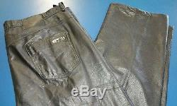 Michael Jordan TWO3 Discontinued Brand Men Black Leather Pants 42W 31L Big Tall