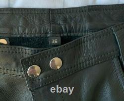 Mister B Leather Trousers 36 waist 34 leg (Mr B Amsterdam)