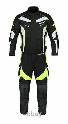Motorbike Motorcycle Suit Jacket Trouser Cordura Men Riding Rain Suit CE Armour