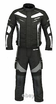 Motorcycle Waterproof Suit Motorbike Riding Textile Jacket Trouser Padded Armour