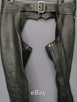 Mr B Amsterdam Berlin Black Leather Chaps Mens 34