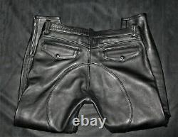 Mr S Leather Breeches Jeans Trousers Mr B Uniform Bluf Rob Langlitz Style Gay
