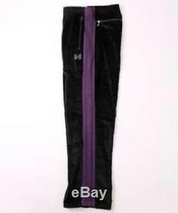 NEEDLES Track Pants 2017FF Corduroy Black x Purple Size-M Used from Japan F/S