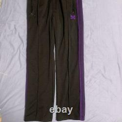NEEDLES Track Pants Narrow 18AW Black x Purple Size-M Used from Japan F/S