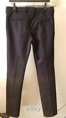 NEIL BARRETT Black to Olive Green Ombre Skinny Fit Wool Dress Pants Size 48