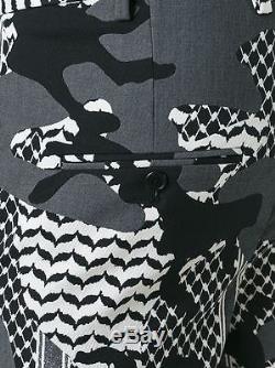 Neil Barrett Men's Bpa276a060524 White/black Cotton Pants