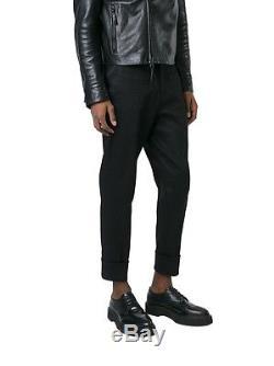Neil Barrett Men's Bpa284a00701 Black Cotton Pants