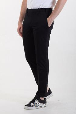 NEIL BARRETT New Man Black Skinny Fit Casual Pants Trousers Size 48 ita $778