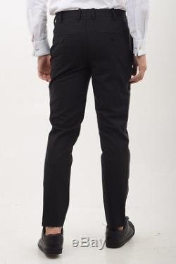 NEIL BARRETT New Man Black Skinny Fit Low Rise Pants Trousers Size 48 ita $784