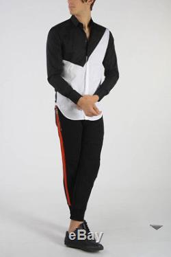 NEIL BARRETT New Man Black Skinny Fit Low Rise Pants Trousers Size M $570