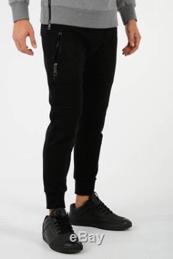 NEIL BARRETT New Man Black Super Skinny Fit Sweat Pants Joggers Size M Trouser