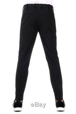 NEIL BARRETT New Men Black Zip Pockets wool Blend Pants Trouser Made Italy