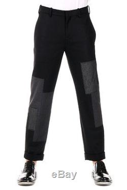 NEIL BARRETT New Men black Wool Blend Capri Pants Trousers Made in italy NWT