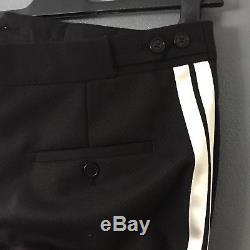 NEIL BARRETT Slim-Fit Cropped Cotton-Blend Trousers 32 Brand New Black Smart