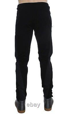NEW $750 DOLCE & GABBANA Pants Black Gray Wool Casual Trousers Stripe IT48 / W34
