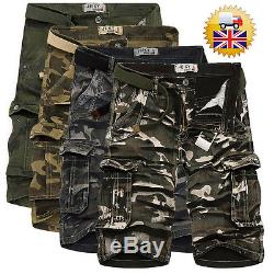 NEW Men's Mode Cargo Shorts Pants Trousers Casual Trousers Combat Army MilitarDF