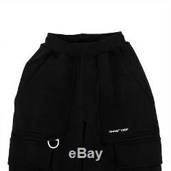 NEW OFF WHITE c/o VIRGIL ABLOH Black Cotton Logo Cargo Pants Size XS $520