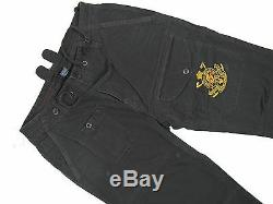 NEW Polo Ralph Lauren Snow Polo Challenge Cup Cargo Pants! Black with Embroidery