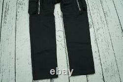 NEW RARE Balmain X H&M black trousers 100% Wool Cargo Pants SIZE 29 SOLD OUT