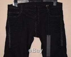 NICOLAS ANDREAS TARALIS Twisted Trousers Black Denim Slim Jeans 33,34 Rick Owens