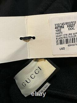 NWT $875 Gucci Mens Sweat Pants Black Size XXXL Made in Italy