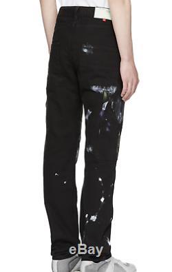 NWT Authentic Off-White Virgil Abloh Black Vintage Carpenter Trousers Jeans 32