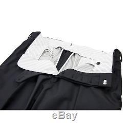 NWT Brooks Brothers Black Fleece Thom Browne Wool Tuxedo Flat Frnt Pants BB3/34W