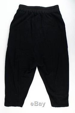 NWT DRKSHDW BY RICK OWENS Black Cotton Woven Drawstrings Cropped Pants M $560