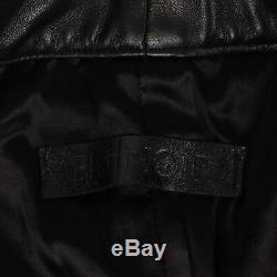 NWT EN NOIR Black Italian Lambskin Leather Five Pocket Pants Size S $1600