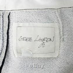 NWT GREG LAUREN Black Satin With Drawstrings Fleece Zipper Lounge Pants 2/S $2065