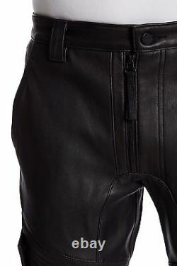 NWT Helmut Lang Trace in Black Stretch Leather Moto Racing Trouser Pant 30 $1795
