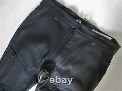 NWT Helmut Lang Trace in Black Stretch Leather Moto Racing Trouser Pant 31 $1795