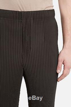 NWT Issey Miyake Homme Plisse Medium Trouser Black Pleated