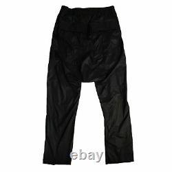 NWT RICK OWENS Black Dropped Crotch Drawstring Track Pants Size L/52 $1000
