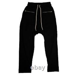 NWT RICK OWENS x DRKSHDW Black Cotton Drawstring Cargo Pants Size XL $623