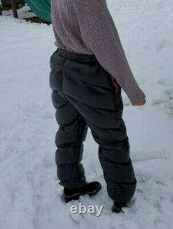 NWT Unisex Shiny Soft Nylon Down Pants Aegismax Overfilled Overstuffed