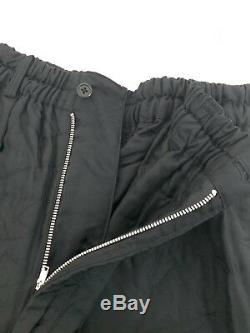 NWT Yohji Yamamoto Pour Homme Rayon Black Casual Pants Men's Large Vintage