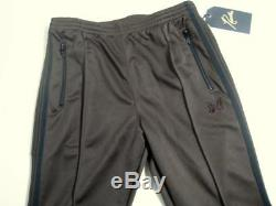 Needles Narrow Track Pant Poly Smooth brown black M WILD LIFE TAILOR limited