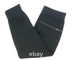 New $465 Neil Barrett Black Neoprene Tape Striped Cropped Scuba Sweatpants Sz L